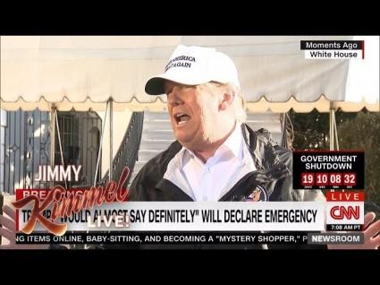 photo image Jimmy Kimmel Flattens Trump's Shutdown Claims