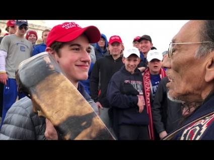 Outrage As MAGA-Wearing HS Kids Taunt Native Elder At Indigenous Peoples March