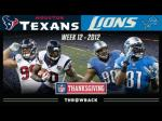 Thanksgiving Football Thread:  Texans Vs. Lions