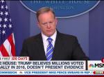 Sean Spicer Defends Trump's Voter Fraud Lies: 'He Believes That, Yes'
