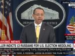 Deputy AG Rod Rosenstein Announces 13 Indictments Against Russians For Election Interference