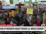 Refugee Caravan At Mexico-Guatemala Border Greeted With Locked Gates, Tear Gas