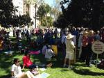 Anti-Fracking Activists Surround California Capitol