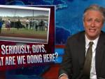 Jon Stewart Tweaks Media Over Ambulance Chasing Coverage Of Clinton And Police Shootings