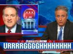 Jon Stewart Mocks Huckabee Without Saying A Word