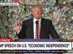 Donald Just Gave An Economic Speech In Front Of A Pile Of Garbage