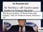 Carrier's Union:  'Trump Lied His A** Off'