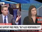CNN Reporter Tangles With Sarah Sanders: 'The President's Tone Toward The Press Is Not Helpful'