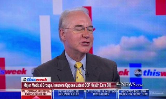 Tom Price Is So, So Perplexed About Insurer Opposition To Cruz Amendment