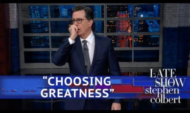Colbert Takes On Super Bowl, State Of The Union Preview