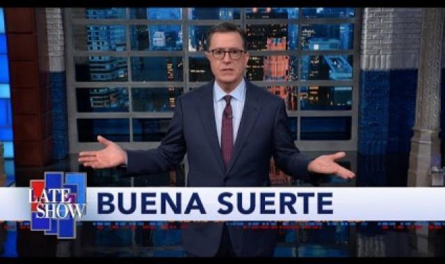 Colbert Wonders Why Trump Is 'Wooing Hispanic Voters'