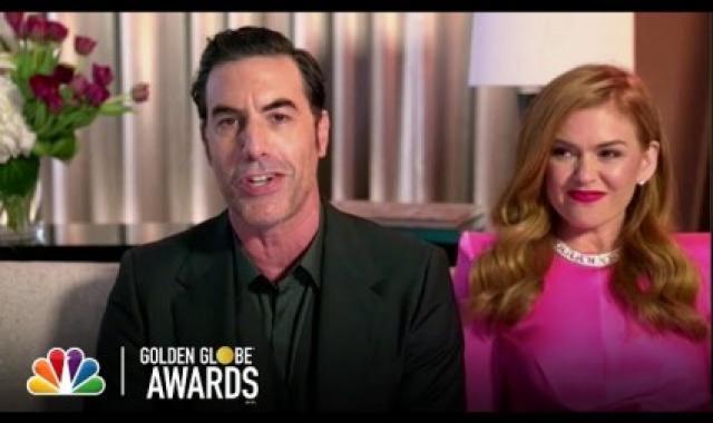 Baron Cohen Thanks 'Co-Star' Rudy Giuliani At Golden Globes