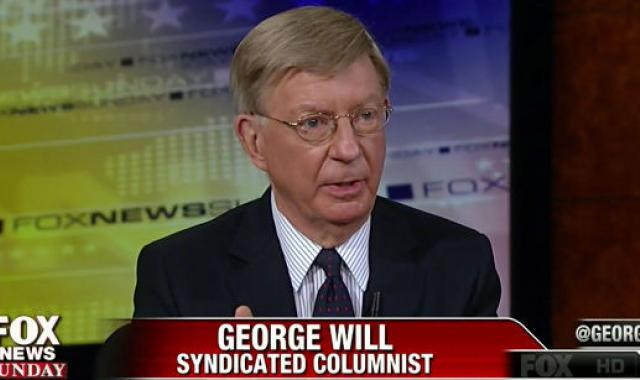 Who Peed In George Will's Wheaties This Morning?