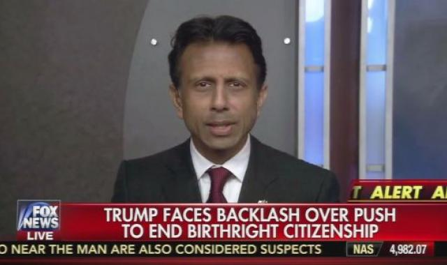 Bobby Jindal's 'Anchor Baby' Double Standard