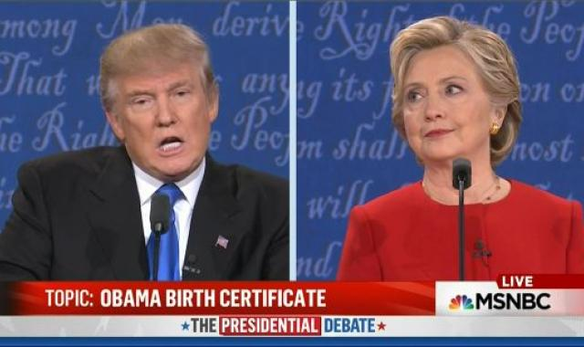 Trump Brags That He 'Did A Good Job' On Birther Issue During Debate