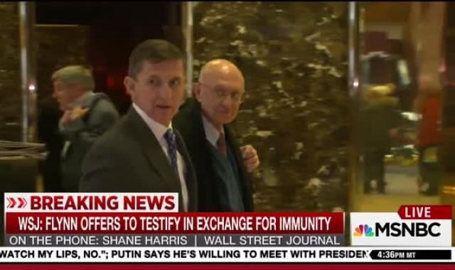 Flynn Seeks Immunity In Exchange For Testimony Before Intel Committees, FBI (UPDATE 3)