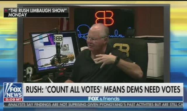 Rush Limbaugh Whines About Counting Every Vote