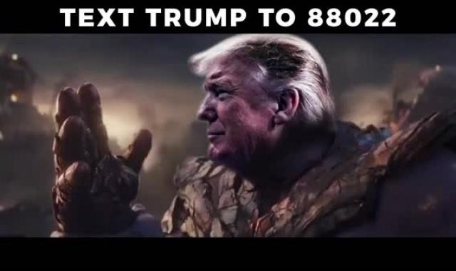 Are They This Stupid? Trump War Room Portrays Him As Thanos