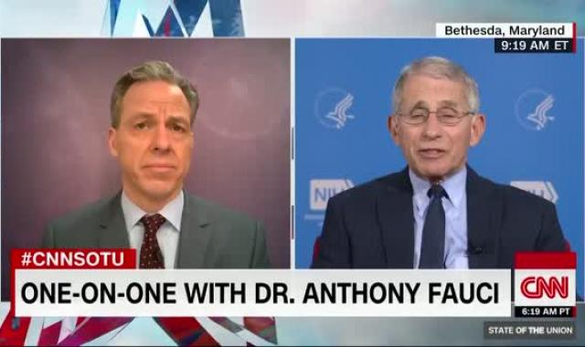 Dr. Fauci Warns Coronavirus Deaths In US Could Top 100,000