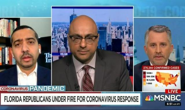 MSNBC Guests: DeSantis' COVID-19 'Colossal Failure' Directly Tied To Trumpism