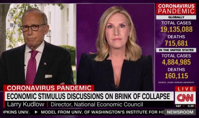 Kudlow Whines About 'Nitpicking' When Called Out On COVID Denialism