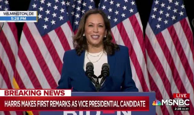Sen. Kamala Harris' Hammered Trump And Pence In Her First Speech As Joe Biden's Running Mate