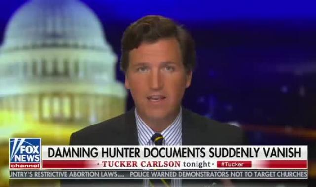 Tucker's October Surprise Documents About Joe And Hunter Biden Mysteriously Disappear