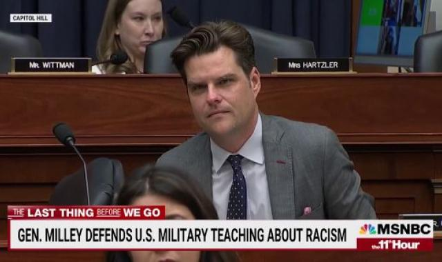 Brian Williams Mocks 'Freedom Fighter' Matt Gaetz Over His Trolling Of Gen. Mark Milley