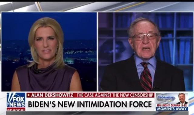 Dershowitz Emerges From Trump Coma, Scolds Laura Ingraham