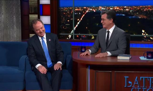 Stephen Colbert Explains Real Pee Tape Story To Adam Schiff
