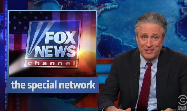 Jon Stewart Compares Fox To An 18 Year Old Jerking Themselves Off