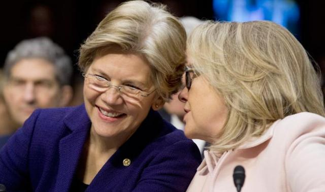 Clinton Endorses Sen. Warren In Blocking Wall St. Bonuses