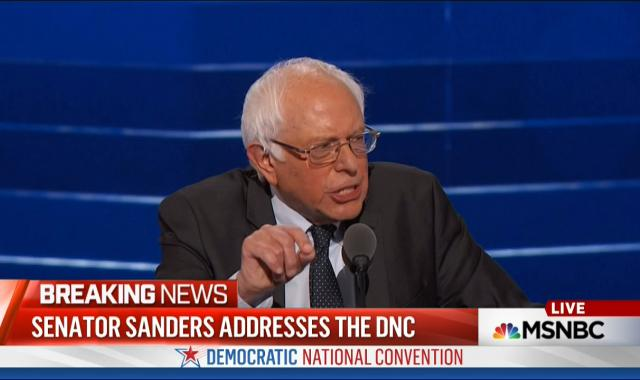 Bernie Sanders At The DNC: Hillary Clinton Must Become The Next President Of The United States
