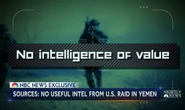 NBC News: Yemen Raid Yielded No Intelligence Of Value