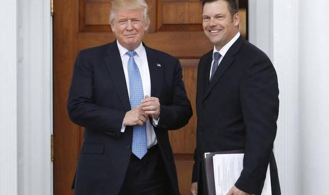 Trump Puts Kris Kobach On 'Voter Fraud' Commission