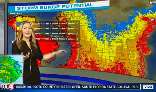 'Breaks My Heart': Florida Forecaster Nearly Breaks Down As She Realizes Irma's Deadly Storm Surge