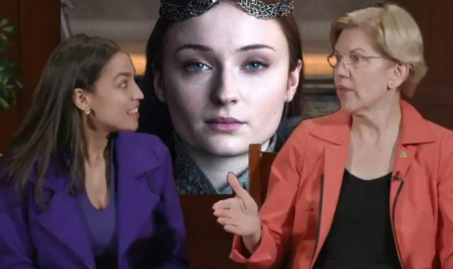 Yas Queens!  AOC And Elizabeth Warren Talk Game Of Thrones