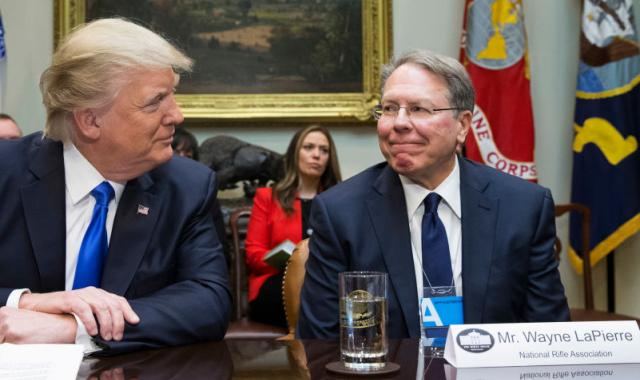 Donald Caves To Embattled NRA CEO, Takes Background Checks Off The Table