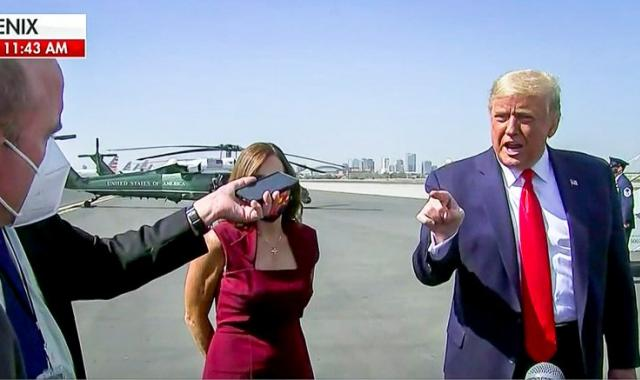 'Criminal!' Trump Screams At Reporters On Airport Tarmac For Not Reporting Bogus Hunter Biden Smear