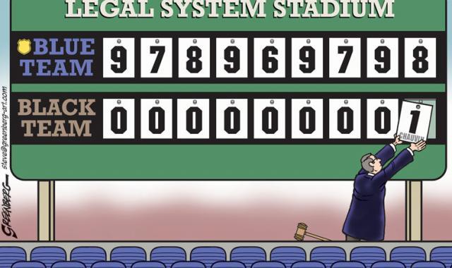 Cartoon: The Legal System Scoreboard