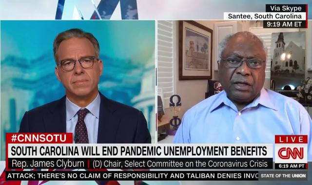 Clyburn Shoots Down Claim Unemployment Bonuses Keep Lazy Workers At Home
