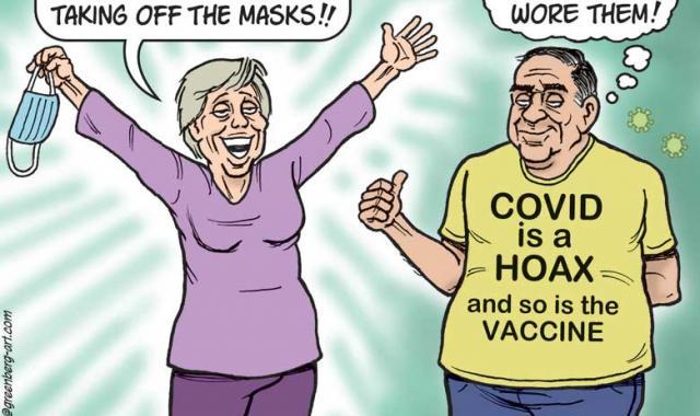 Cartoon: Taking Off The Masks