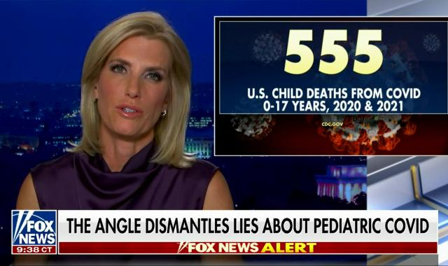 Ingraham:  Number Of Kids Dying From COVID Is No Big Deal