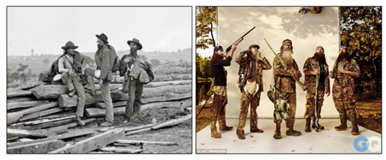 Two Images Of Our Civil War, Then And Now