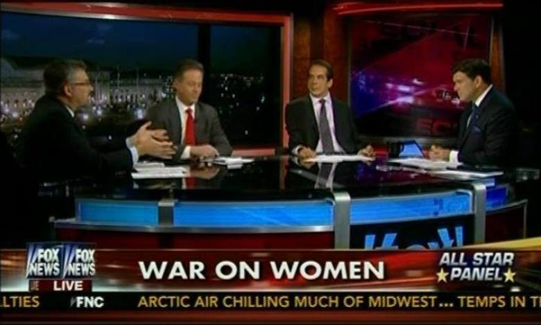 Fox News' War On Women In One Photo | Crooks and Liars