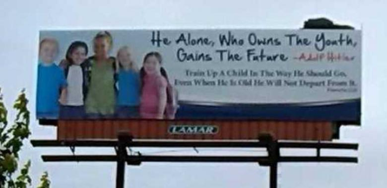 Alabama Ministry Puts Hitler Quote On Billboard, Quickly Regrets It