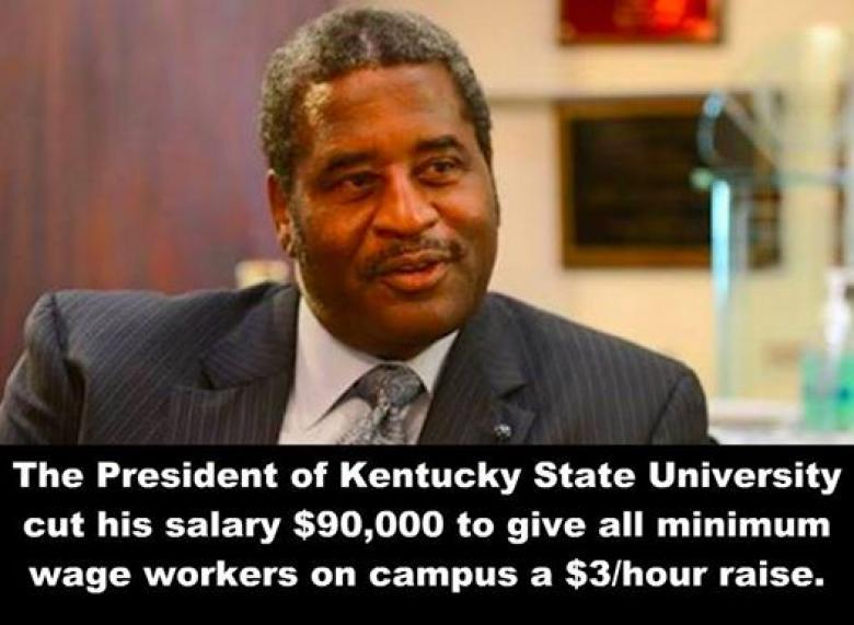 KSU Prez Gives Up Part Of His Salary To Give Low-Paid Workers A Raise