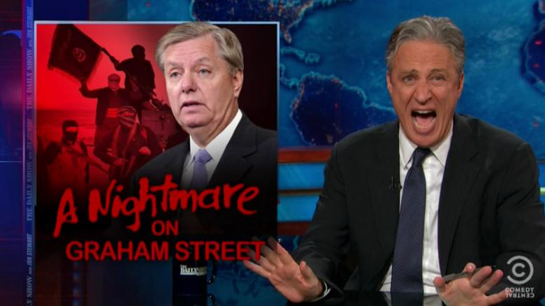Jon Stewart Completely Emasculates Lindsey Graham For His Fearmongering Over ISIS