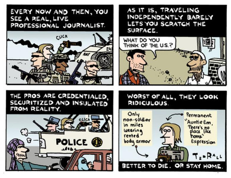 C&L Book Chat: Ted Rall Talks About His New Book And Being Unembedded In Afghanistan