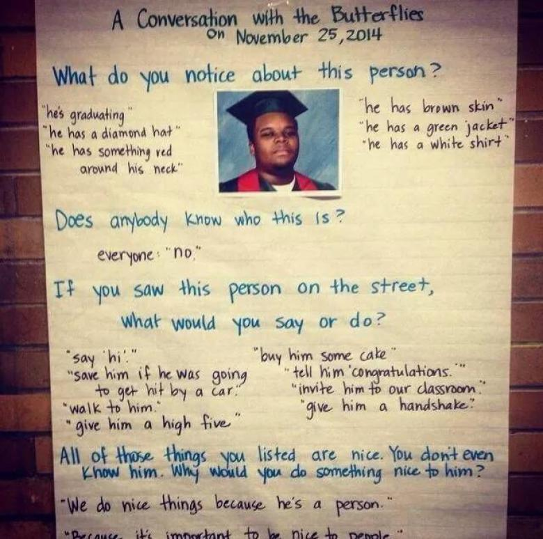 Open Thread - Mike Brown By First Graders